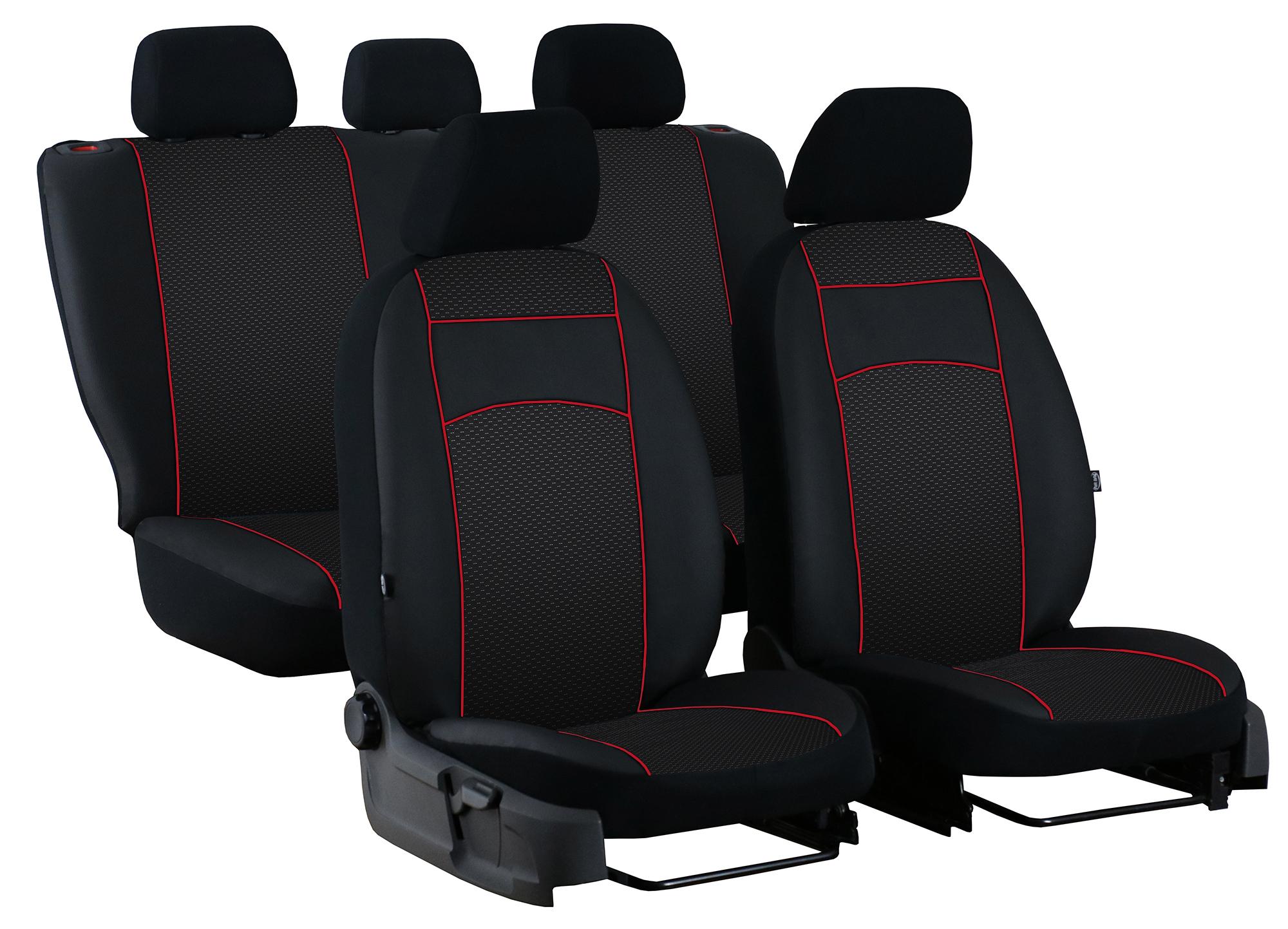 5x Sitze Sitzbez/üge Schonbez/üge Schonbezug Schwarz-rot